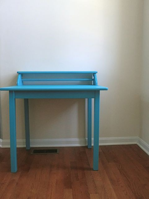 Turquoise art table